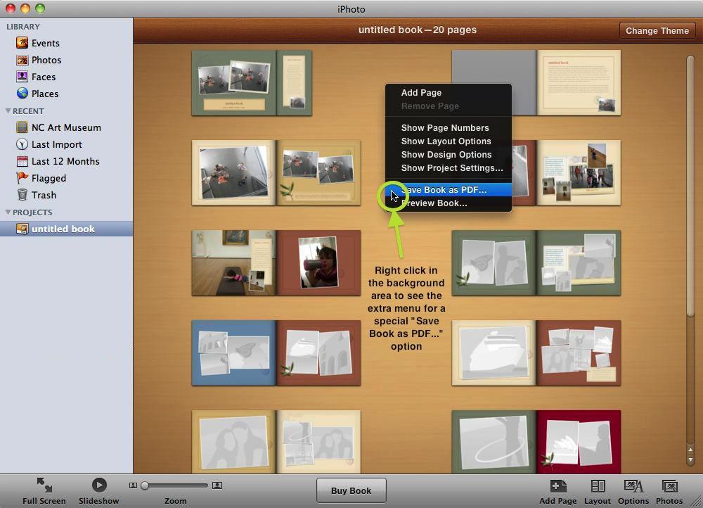 tutoriel pour creer un livre photo avec un mac